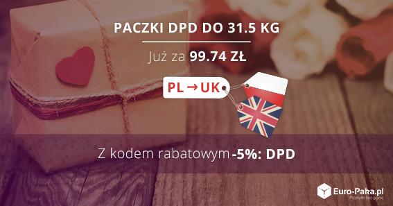 Kod rabatowy na paczki polska anglia - 5% dla kuriera DPD